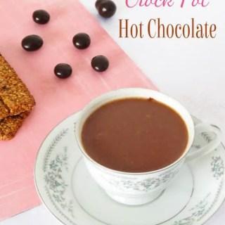 Crock Pot Hot Chocolate {3 Ingredients}