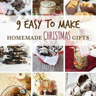9 Easy to make Homemade Christmas Gifts