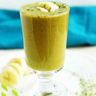 3 Ingredient Green Tea Matcha Smoothie