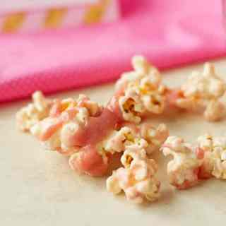 Strawberry White Chocolate Popcorn