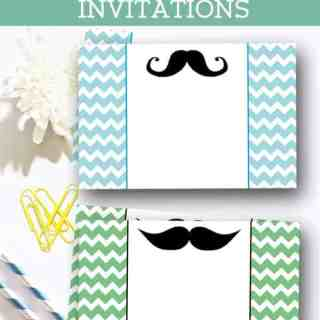 Free Mustache Baby Shower Invitations