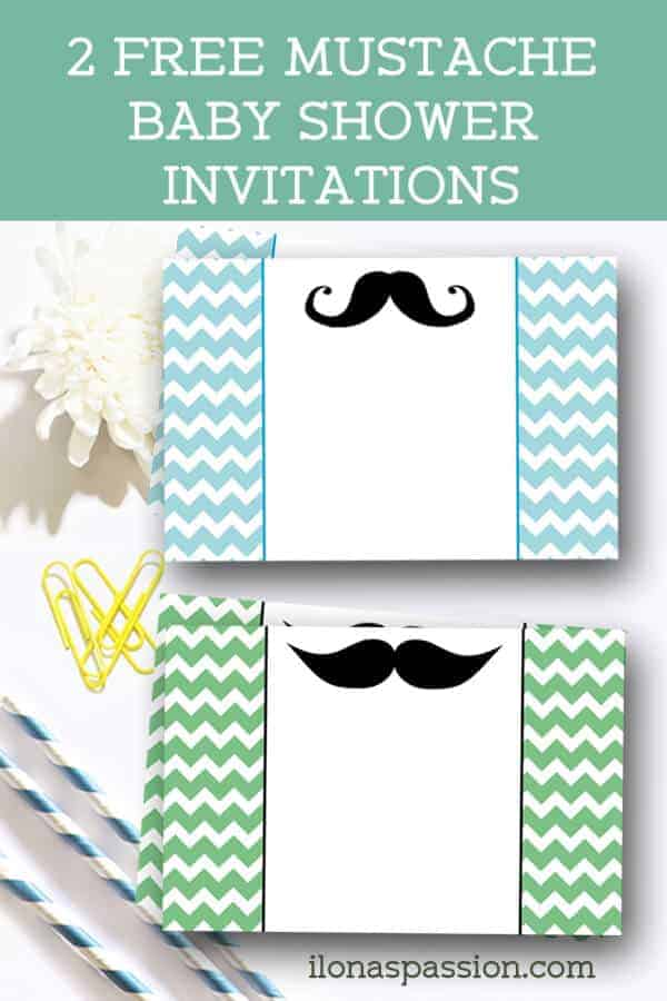 2 Free Mustache Baby Shower Invitations Are Perfect For The Party. They Can  Be Also