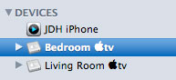 Note that the detected iPhone shows up as a remote
