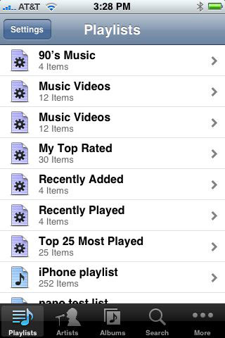 The Remote application works just like iPod
