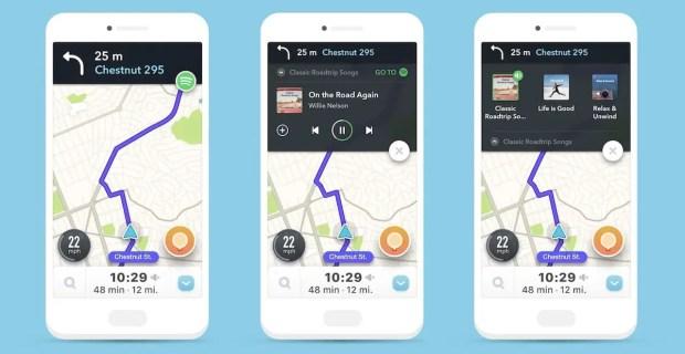 iOS Waze Pandora
