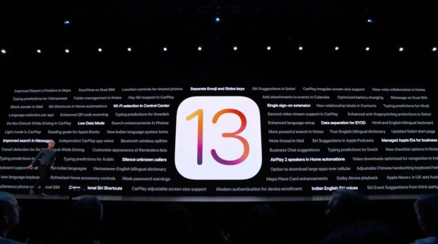 iOS 13 unveiled at WWDC 2019