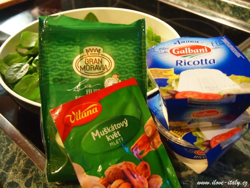 recept na ravioli plněné ricottou
