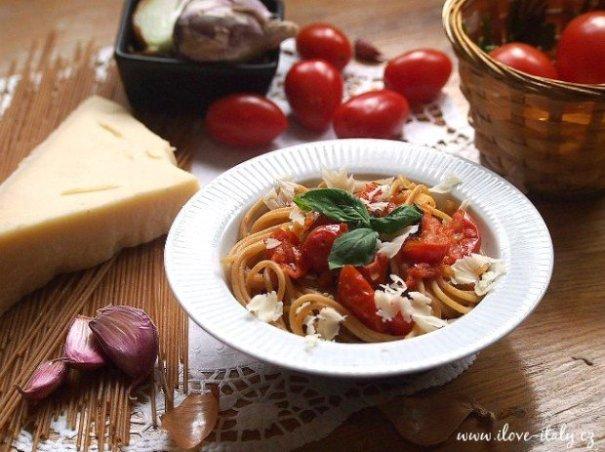 špagety s cherry rajčátky2