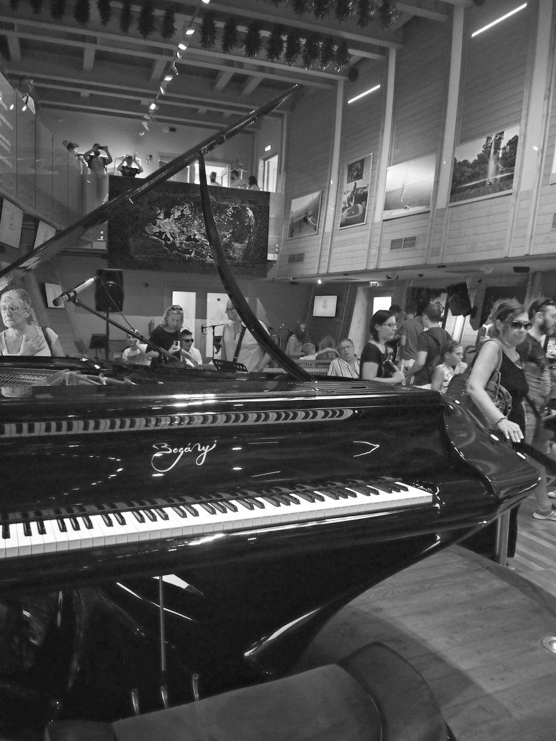 krásný klavír v sále