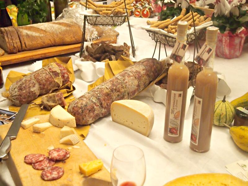 sýry a salámy z trentina