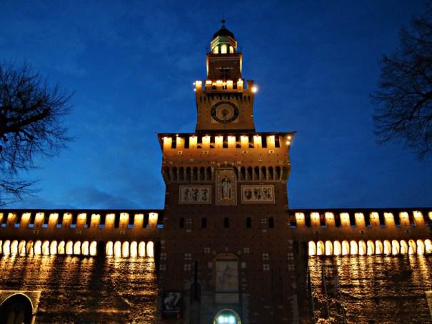 hrad Sforzesco v Miláně