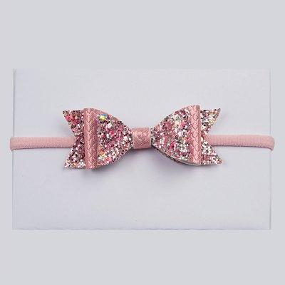 Koρδέλα, ροζ γοργονέ, glitter multi