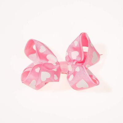 Tσιμπιδάκι κλιπ, ροζ, λευκή, καρδιά