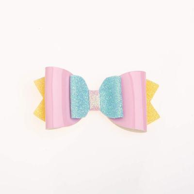 Τσιμπιδάκι, κλιπ, γκλίτερ, κίτρινο, γαλάζιο, λουστρίνι ροζ