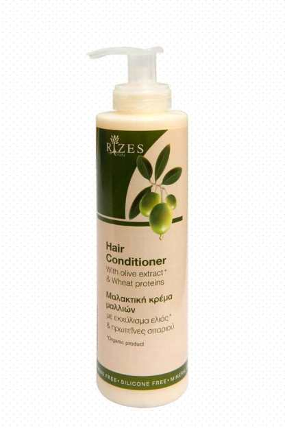 Hair conditioner with olive extract and wheat proteins. - www.ilovecrete.eu