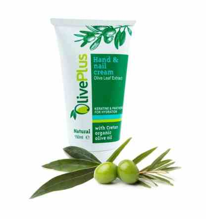 hand nail cream with olive leaf extract