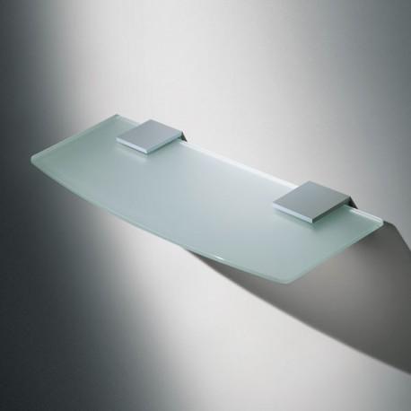 support plat en metal pour etagere verre ou bois