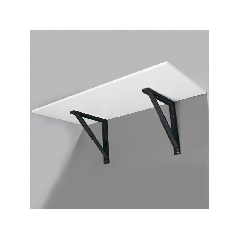 support de table repliable noir