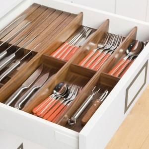 range couverts pour cuisine en bois