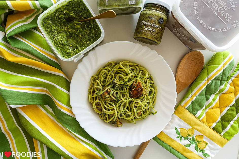 Pesto Chicken Pasta Recipe (With Grilled Cheese)