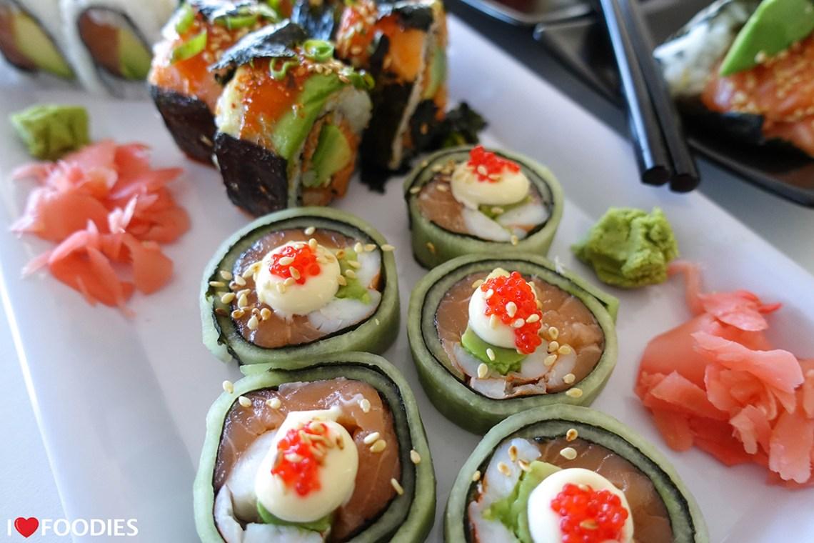 Prawn cucumber rolls