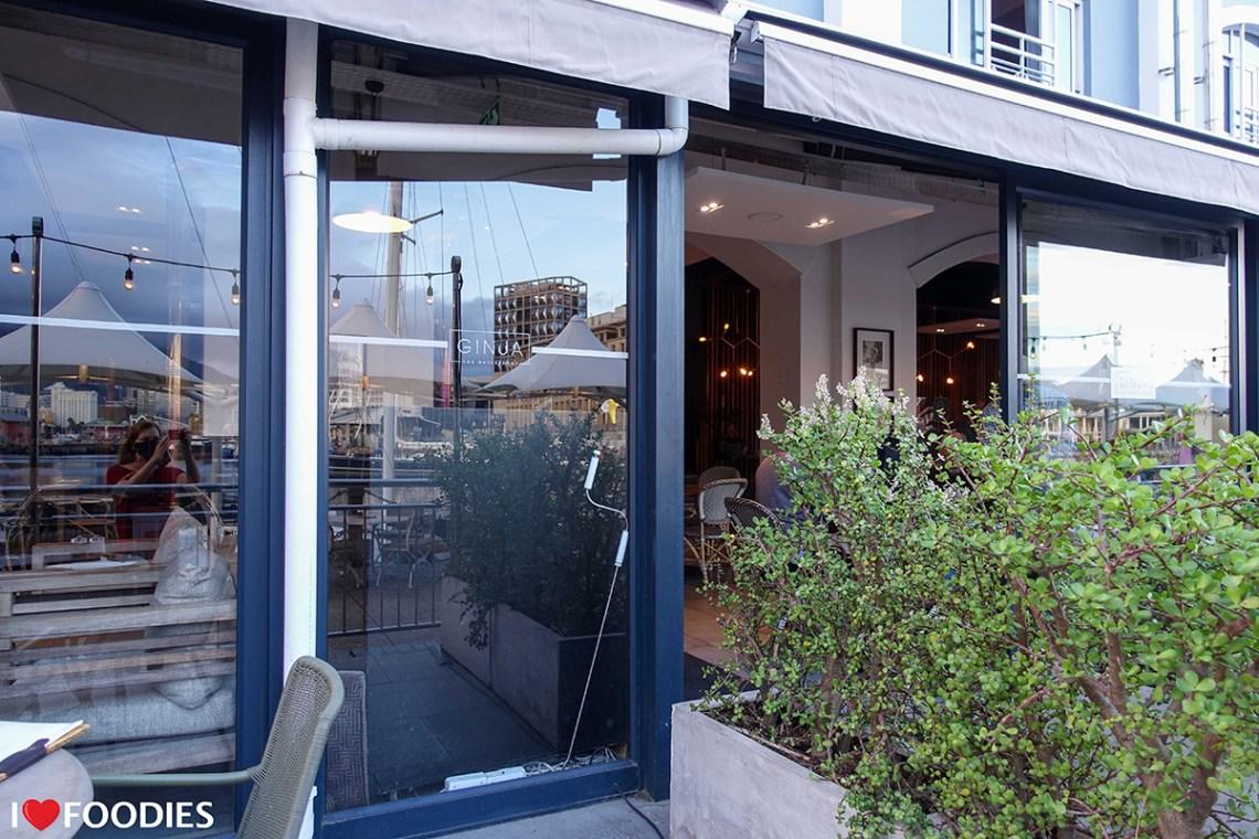Terrace entrance to Ginja Restaurant