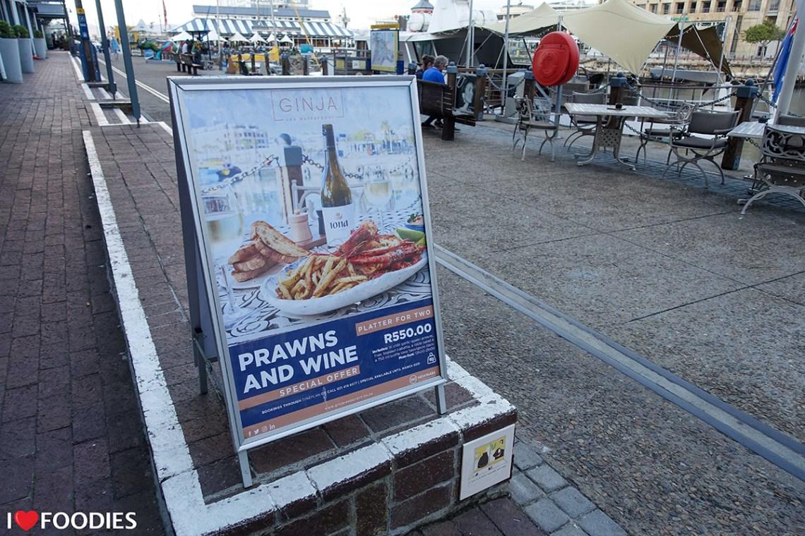 Ginja restaurant prawn & wine special