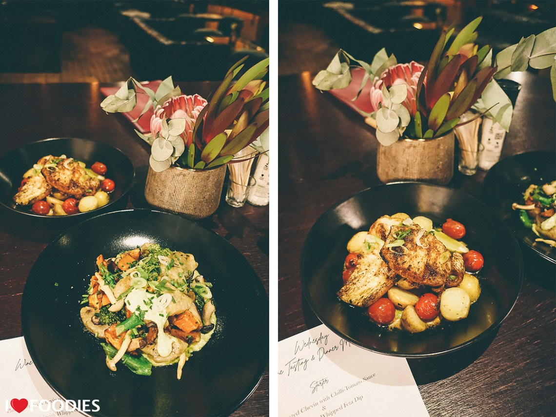 Harringtons pan-fried gnocchi & the harissa-buttered linefish