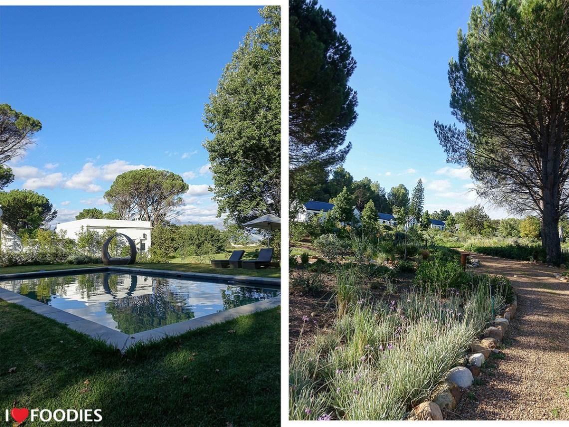 Boschendal Werf Garden Suite Cottage Pool and Garden