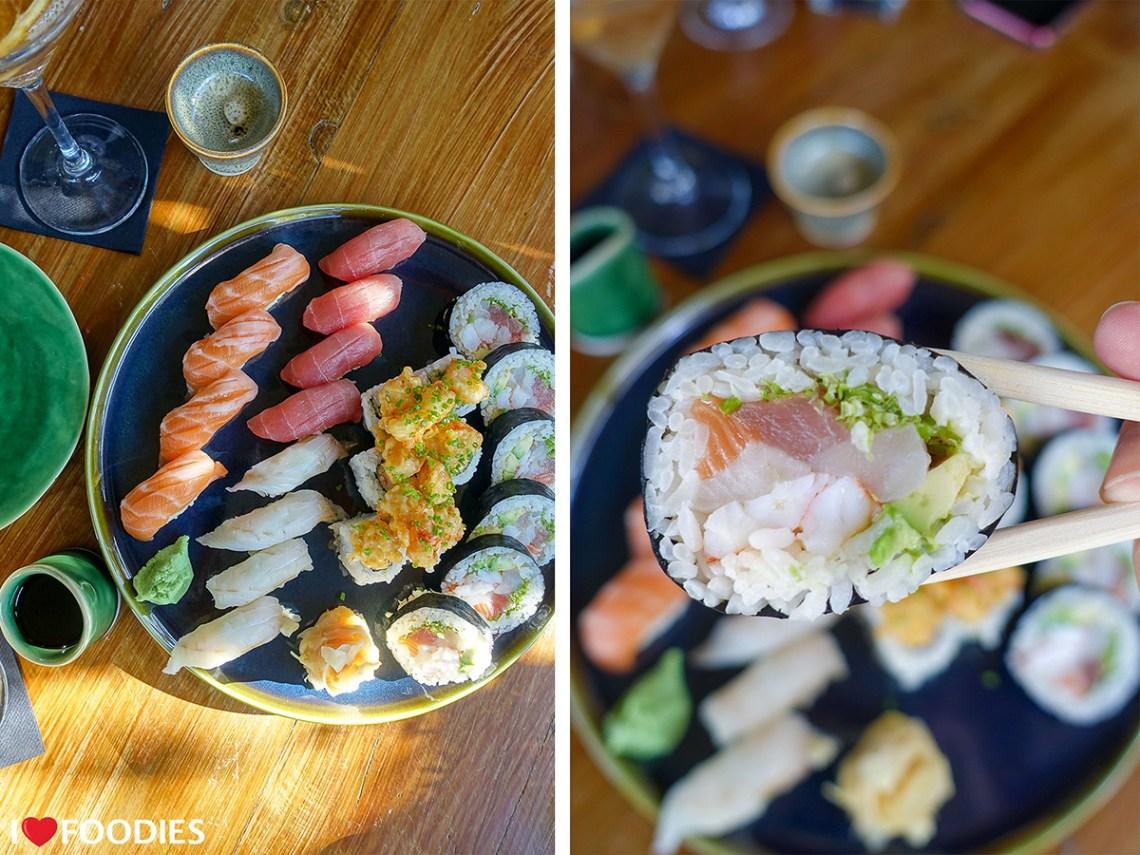 Restaurant Boujee sushi selection