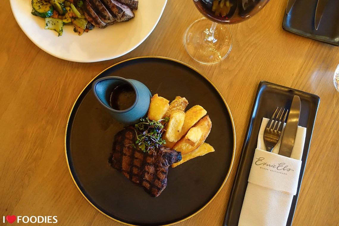 Rump steak with hand-cut fries