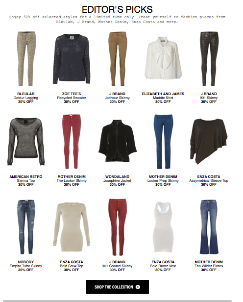 Selected Styles 30% Off at Donna Ida