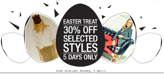 An Easter Treat At Donna Ida £ 30% Off Selected Styles
