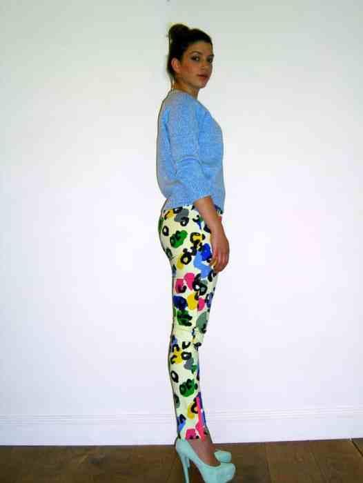 Sara Wears Camilla and Marc Rainbow Leopard New English Jeans £275.00