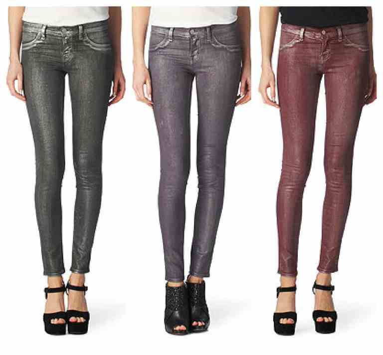 SHOP THE EXCLUSIVE J BRAND 901 super-skinny silver bullet jeans £270.00
