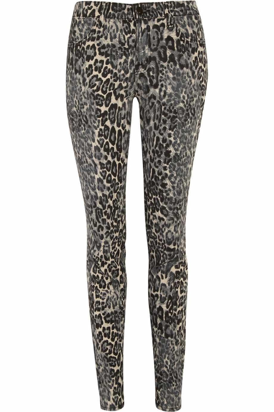 J Brand Denim Leopard-print mid-rise skinny jeans Original price £250 Now £112.50 55% off