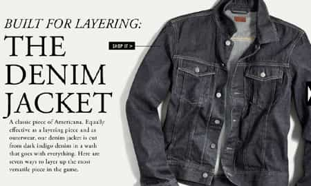 MEN'S ROOM: 7 WAYS TO WEAR A DENIM JACKET