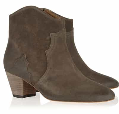 Isabel Marant The Dicker suede ankle boots  £340