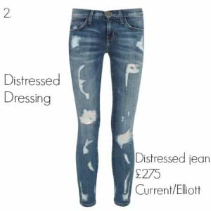 Distressed jeans, £275 Current/Elliott