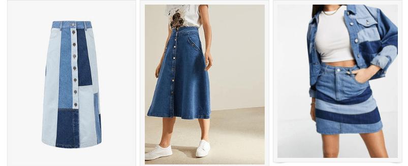 handpicked denim skirts