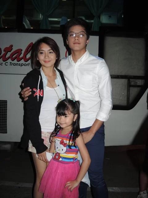 Keisha with Daniel Padilla and Kathryn Bernardo