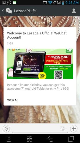 5WeChat and Lazada Promo