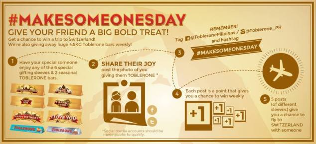 Toblerone's #MakeSomeonesDay contest