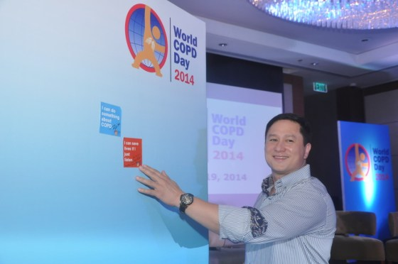Eric Quizon during the commitment exercise of World COPD Day