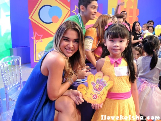Keisha with Hi-5 Philippines and Fely Irvine