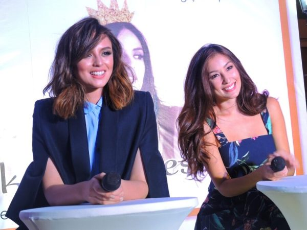 Besties Georgina Wilson and Solenn Heusaff