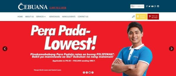 Cebuana Lhuillier Website 2