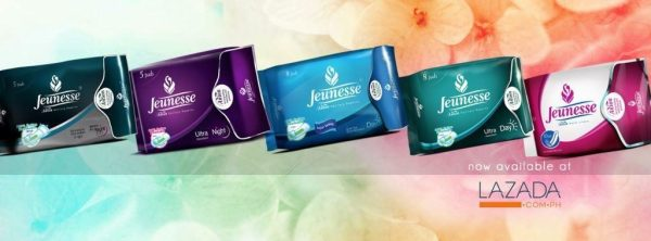 Jeunesse Anion Sanitary Napkin and Liner are available at www.lazada.com.ph