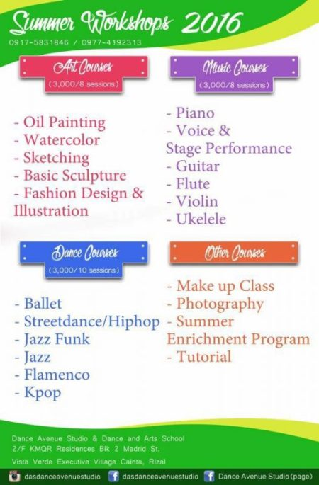 Dance Aveue Studio Summer Classes