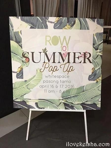 Row 101 entrance